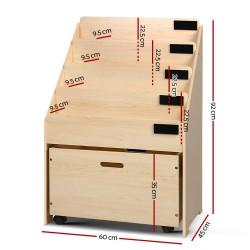 Artiss 5 Tier Kids Bookshelf - Wooden