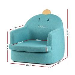 Artiss Kids Fabric Armchair Couch Dinosaur Chair Green