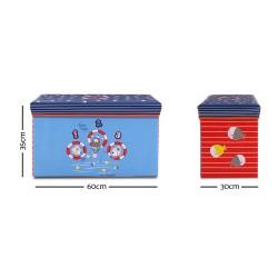 Kids Storage Toy Box Foldable Organiser - Blue