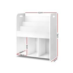 Artiss Kids Bookshelf Children Bookcase Display Cabinet 3 Tiers