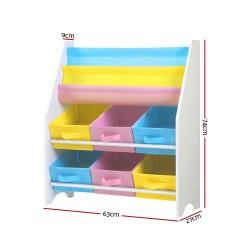Artiss Kids Bookshelf Toy Storage Organizer Bookcase 2 Tiers