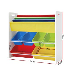 Artiss Kids Bookshelf Toy Storage Box Organizer Bookcase 3 Tiers