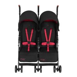 T-01 Twin Stroller - Black/Redstone
