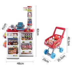 Keezi 24 Piece Kids Super Market Toy Set - Red & White
