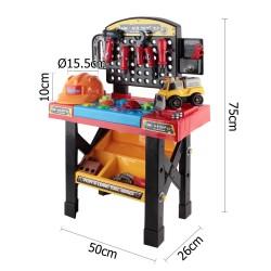 Keezi 52 Piece Kids Workbench Set - Black