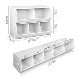 Artiss Kids Toy Storage Box - White