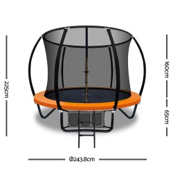 Everfit 8FT Trampoline - Orange