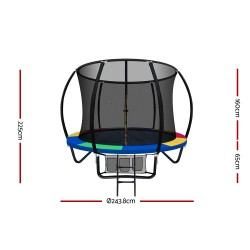Everfit 8FT Trampoline Round - Rainbow
