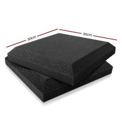Set of 20 Flat Panel Acoustic Foam - Black