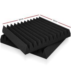 Set of 40 Wedge Acoustic Foam - Black