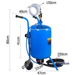 Giantz 100LB Portable Soda/Sand Blaster - Blue