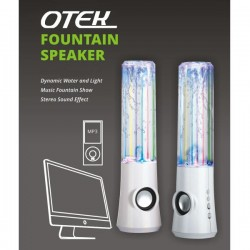 Water Dancing Speakers 2x USB Powered LED Water Fountain PC iPhone iPod (White)