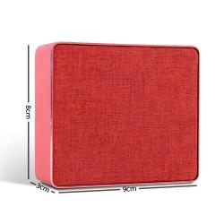 Jonter Mini Desktop Wireless Bluetooth Speaker - Red
