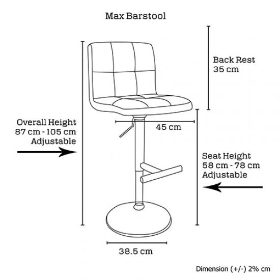 2 x Max Barstool Brown
