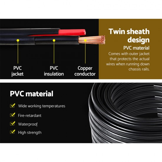 100M 4MM Twin Core Wire 2 Sheath Electrical Cable