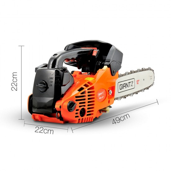 Giantz 25CC Commercial Petrol Chainsaw - Orange & Black