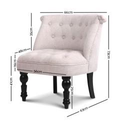 Artiss Lorraine Sofa Chair - Beige