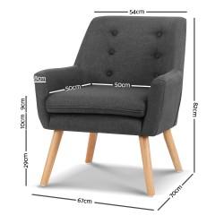 Armchair Tub Single Dining Chair