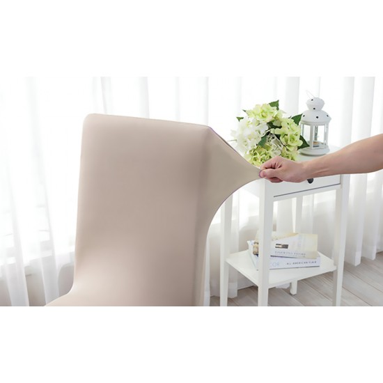 1pc Stretch Elastic Dining Room Washable Chair Cover Grey
