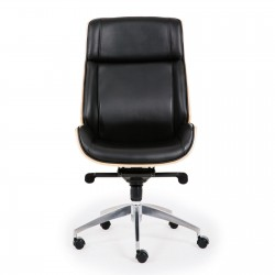 Wooden & PU Leather Desk / Computer / Office Chair / Rialto Executive Chair - Grey
