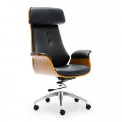 Wooden & PU Leather Office Chair Renaissance Executive Chair - Walnut