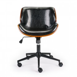 Wooden & PU Leather Office Chair Almas Task Chair