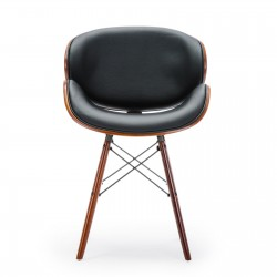 Wooden & PU Leather Franklin Visitor / Dining Chair