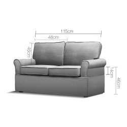 Artiss 2 Seater Folding Sofa Bed - Grey