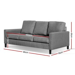 Artiss 3 Piece Sofa Set