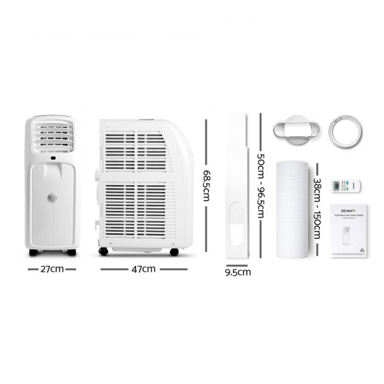 3-in-1 Portable Air Conditioner - White