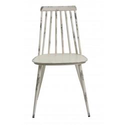 Aluminium Dinning Chair Retro White Set of 2