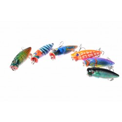 6X 3.5cm Popper Poppers Fishing Lure Lures Surface Tackle Fresh Saltwater