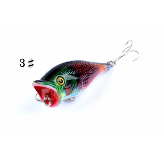 4X 6.5cm Popper Poppers Fishing Lure Lures Surface Tackle Fresh Saltwater