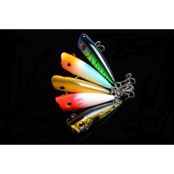 5X 6cm Popper Poppers Fishing Lure Lures Surface Tackle Fresh Saltwater