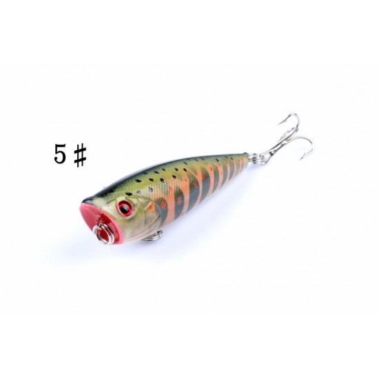 6X 6cm Popper Poppers Fishing Lure Lures Surface Tackle Fresh Saltwater