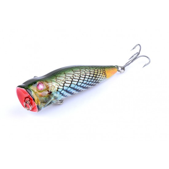 6X 7cm Popper Poppers Fishing Lure Lures Surface Tackle Fresh Saltwater