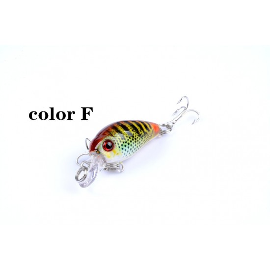 6x 4.5cm Popper Crank Bait Fishing Lure Lures Surface Tackle Saltwater