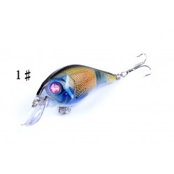 4x 7.5cm Popper Crank Bait Fishing Lure Lures Surface Tackle Saltwater