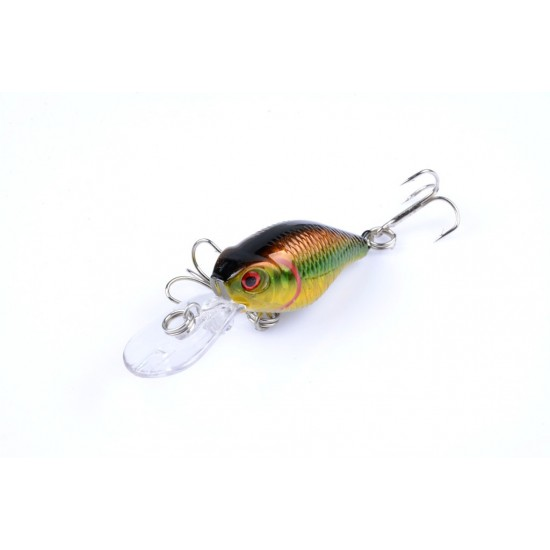 6x 6cm Popper Crank Bait Fishing Lure Lures Surface Tackle Saltwater