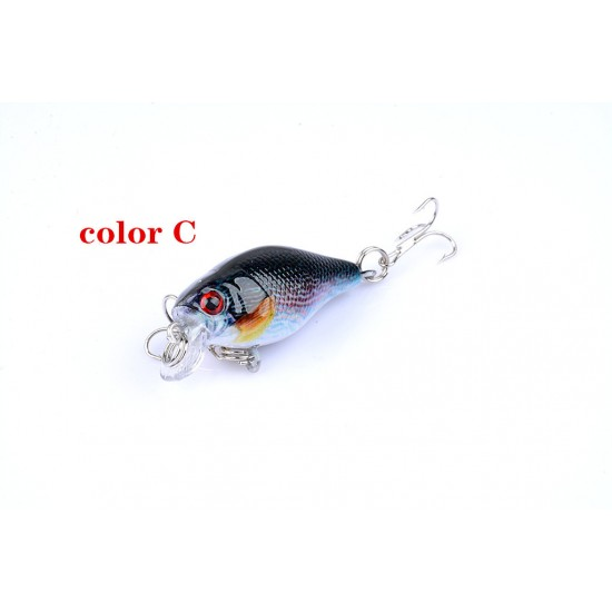 6x 4.3cm Popper Crank Bait Fishing Lure Lures Surface Tackle Saltwater