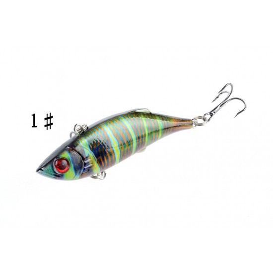 4x 8cm Vib Bait Fishing Lure Lures Hook Tackle Saltwater