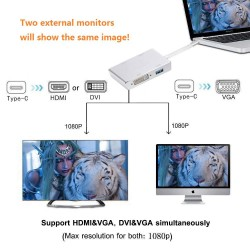 4in1 USB 3.1 Type-C Hub to HDMI  Video Adapter 4K Male to Female Converter