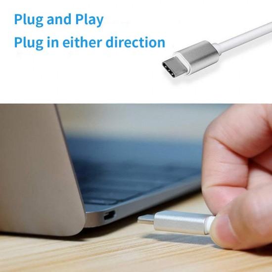 USB C to HDMI Adapter, Type C AV Converter 4K HDMI USB 3.0 Port USB-C Female