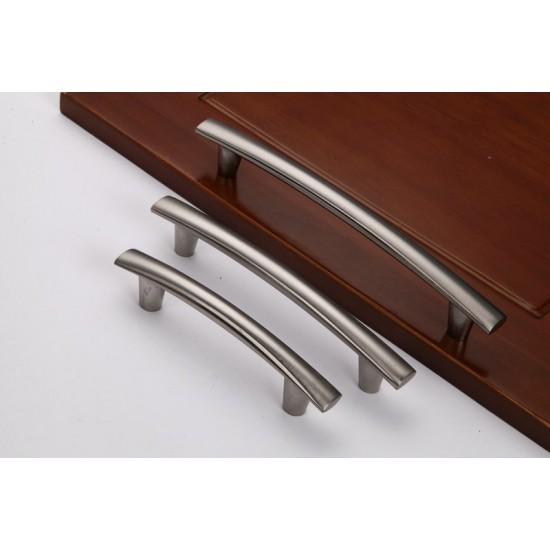 Nickel Kitchen Door Cabinet Drawer Handle Puller 96MM 128MM 160MM