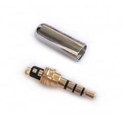 DIY Earphone Upgrade Cable 4 Pole 3.5mm Male Audio Adapter